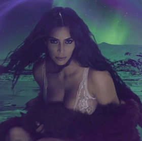Kim Kardashian Looked Sultry As She Featured On Love Magazine Advent Calendar